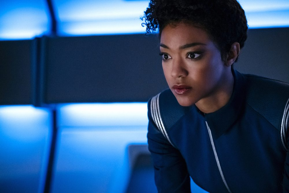 "Sonequa Martin-Green as First Officer Michael Burnham in a still from the CBS series ""Star Trek: Discovery."" (Jan Thijs/CBS)"