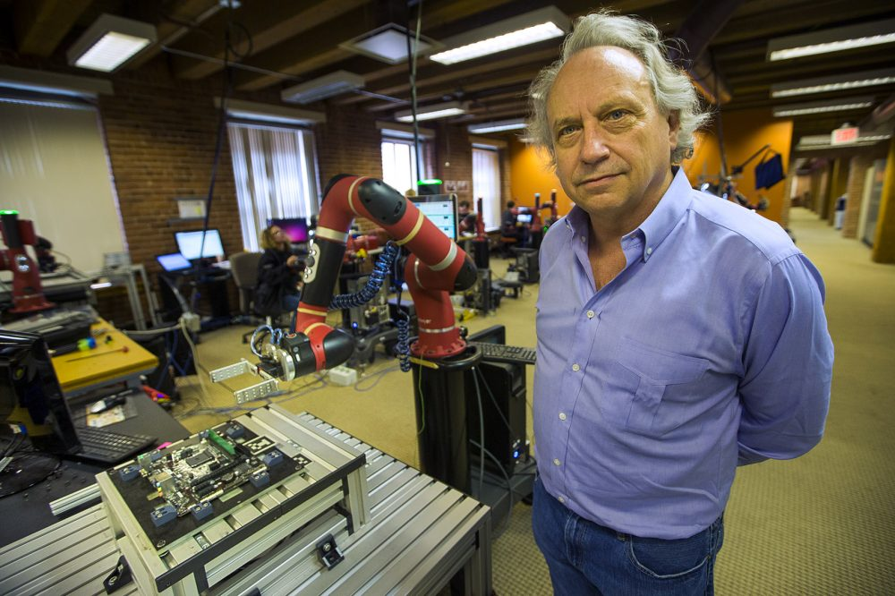 Rodney Brooks, founder of Rethink Robotics (Jesse Costa/WBUR)