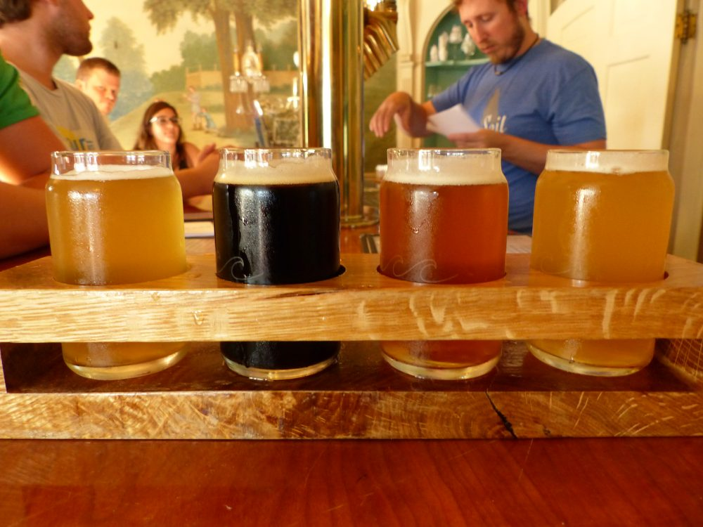A selection of beers on tap at Grey Sail Brewing in Westerly, Rhode Island (Tom Verde for NENC)