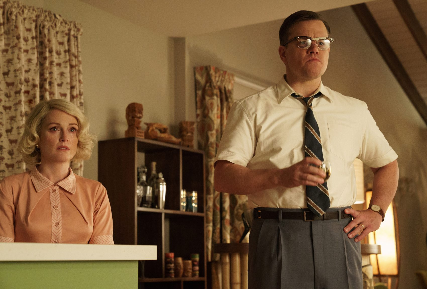 "Julianne Moore as Margaret and Matt Damon as Gardner in ""Suburbicon."" (Courtesy Paramount Pictures)"