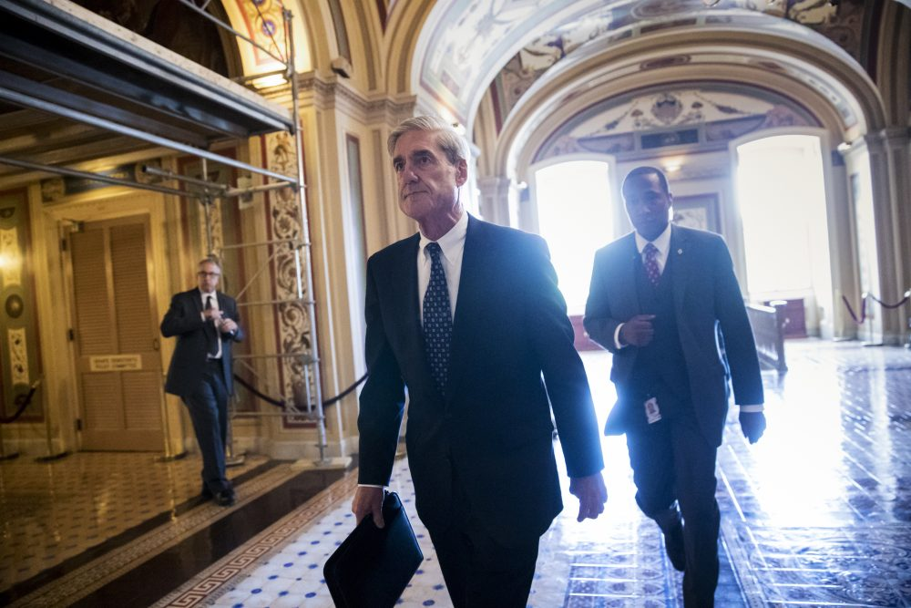 Special Counsel Robert Mueller departs the Capitol after a closed-door meeting with members of the Senate Judiciary Committee about Russian meddling in the election and possible connection to the Trump campaign, in Washington, Wednesday, June 21, 2017. (J. Scott Applewhite/AP)