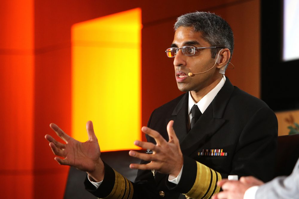 Vice Admiral Vivek Murthy, MD, 19th Surgeon General of United States gives a heartfelt talk on improving health through love and humanity at the 5th annual Lake Nona Impact Forum, a three-day thought leadership event, on Thursday, Feb. 16, 2017, in Orlando, Florida. (Alex Menendez/AP)