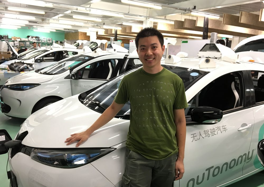 James Fu, the director of technology in nuTonomy's Singapore office, says these cars are getting modified to go out on a drive to map a newly expanded driverless car test bed in Singapore. (Asma Khalid/WBUR)