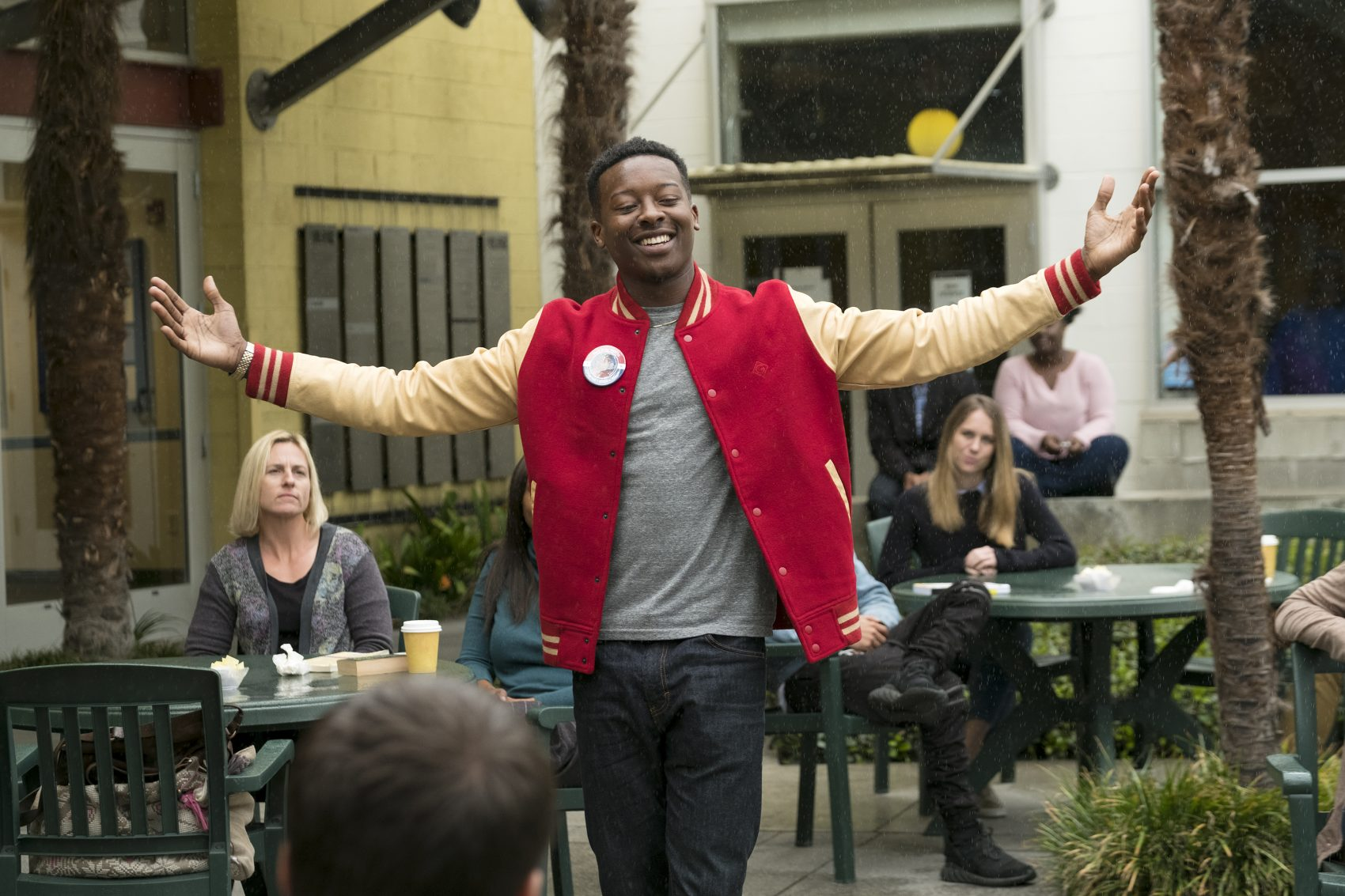 "Brandon Micheal Hall as rapper Courtney Rose is elected ""The Mayor"" in a new ABC series. (Courtesy of Tony Rivetti/ABC)"
