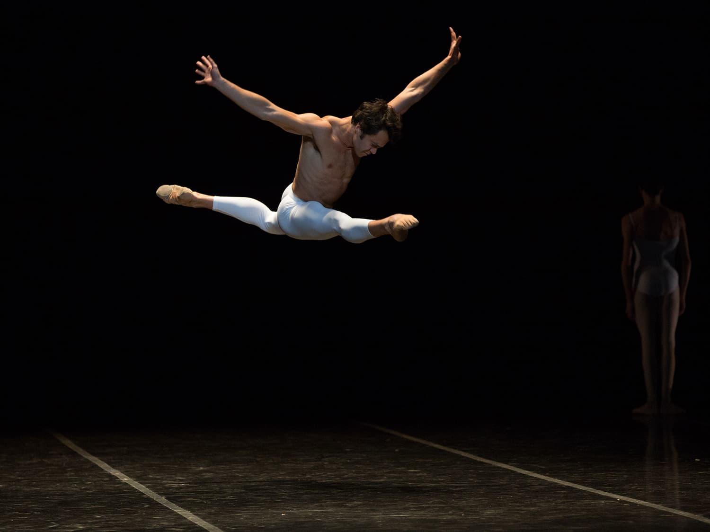 """Paulo Arrais in John Neumeier's """"Third Symphony of Gustav Mahler."""" (Courtesy Rosalie O'Connor/Boston Ballet)"""