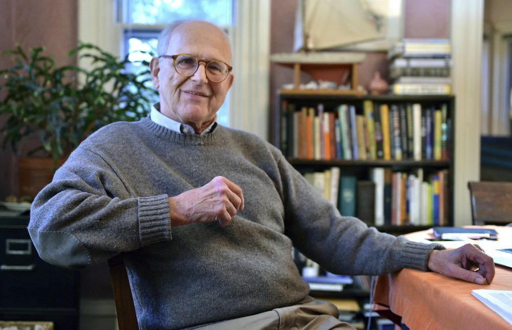 Rainer Weiss at his home in Newton, Mass. on Tuesday. (Josh Reynolds/AP)