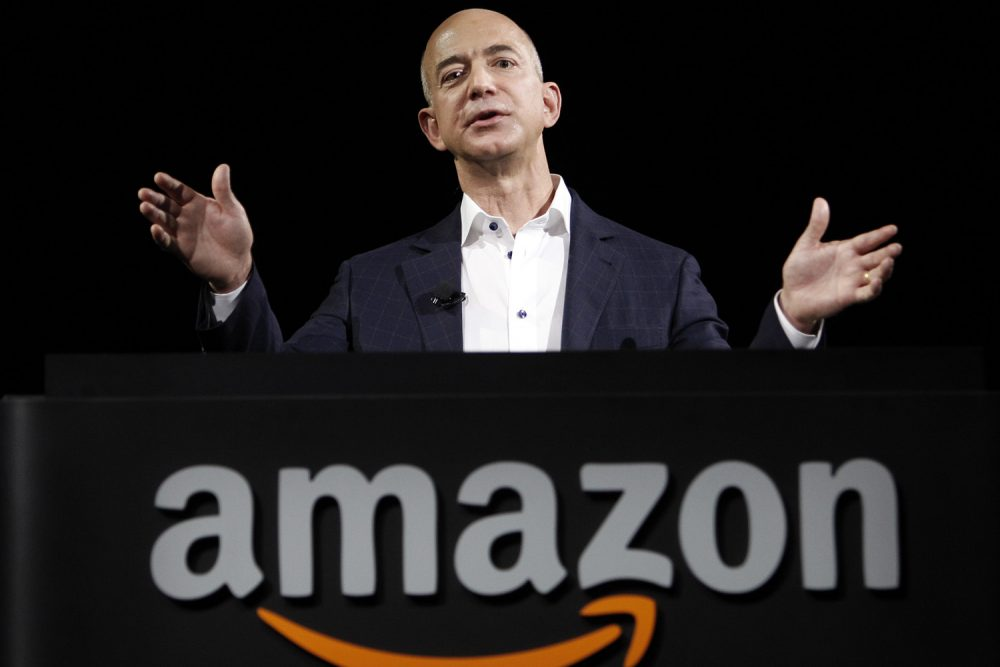 Jeff Bezos, CEO and founder of Amazon, speaks in 2012. (Reed Saxon/AP)