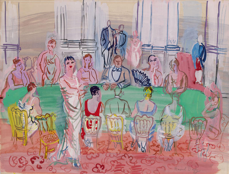 """La Fete,"" by Raoul Dufy, is slated for sale by the Berkshire Museum. (Courtesy Sotheby's)"