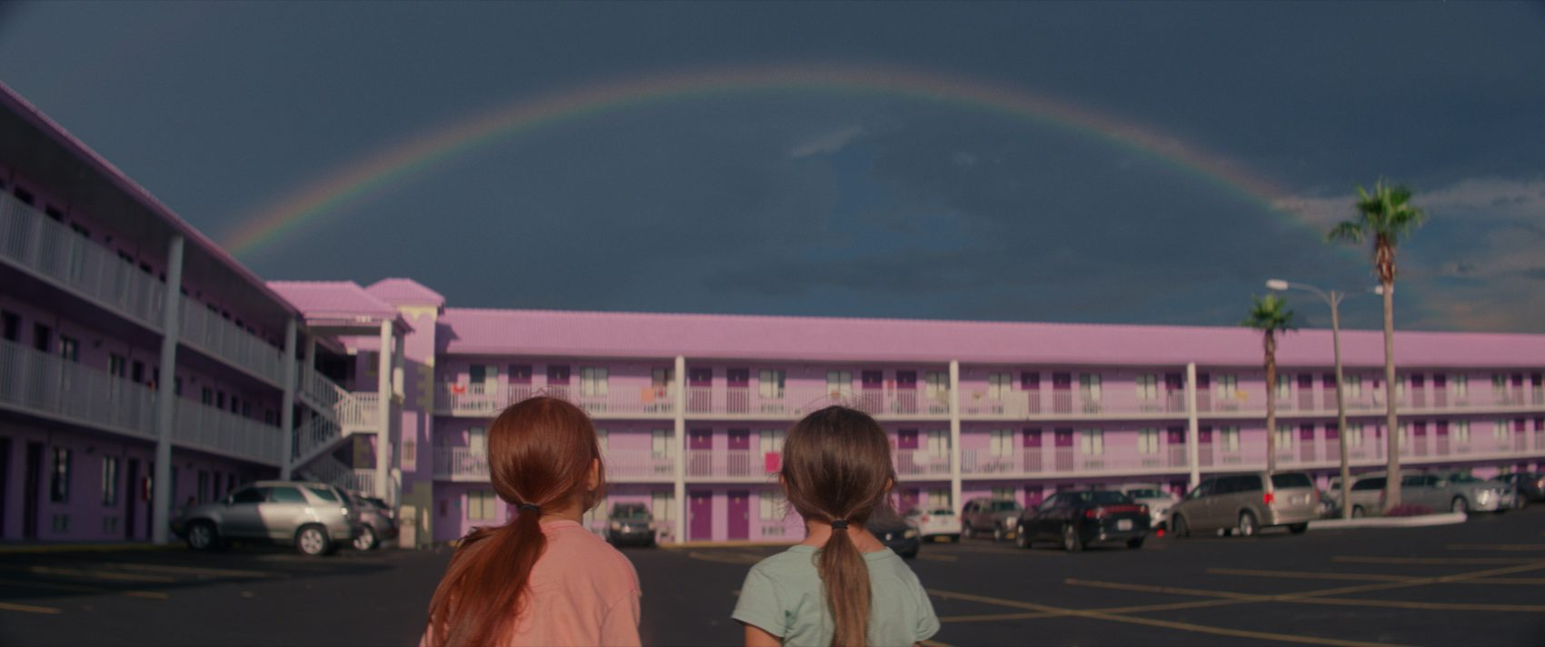 "Brooklynn Prince and Valeria Cotto in ""The Florida Project."" (Courtesy A24)"