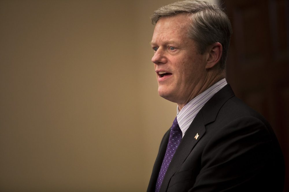 Gov. Charlie Baker, in January 2017. (Jesse Costa/WBUR)