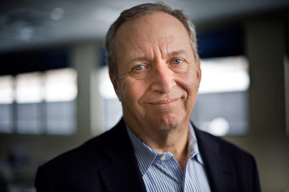Larry Summers at WBUR in 2014. (Jesse Costa/WBUR)