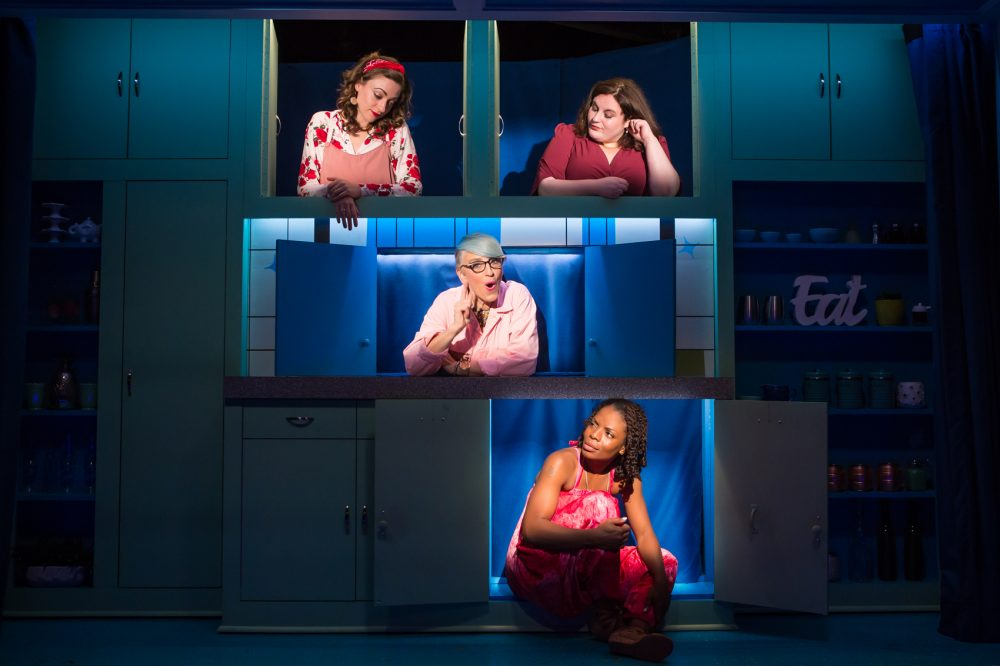 "Eden Malyn, Lauren Ann Brickman, Lisa Lampanelli and Marsha Stephanie Blake in ""Stuffed."" (Courtesy Jeremy Daniel)"