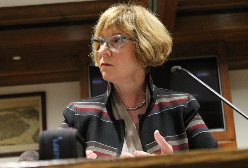 """Auditor Suzanne Bump said there is """"no forum"""" to handle sexual harassment complaints against lawmakers or lobbyists. (Sam Doran/File/SHNS)"""