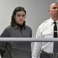 Sonja Farak stands during her 2013 arraignment at Eastern Hampshire District Court in Belchertown. (Don Treeger/The Republican via AP, Pool, File)