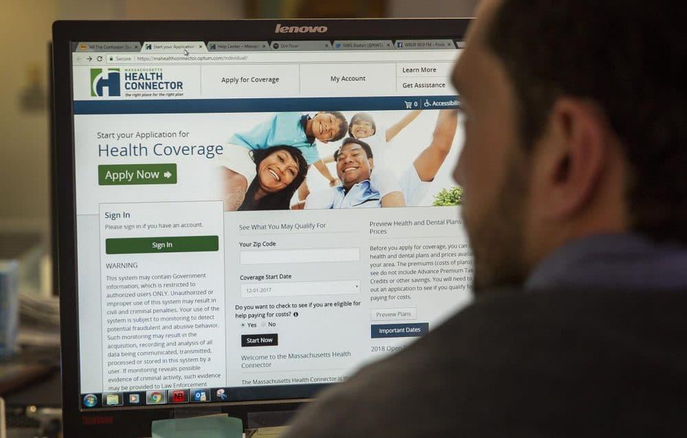 The Massachusetts Health Connector website (Robin Lubbock/WBUR)
