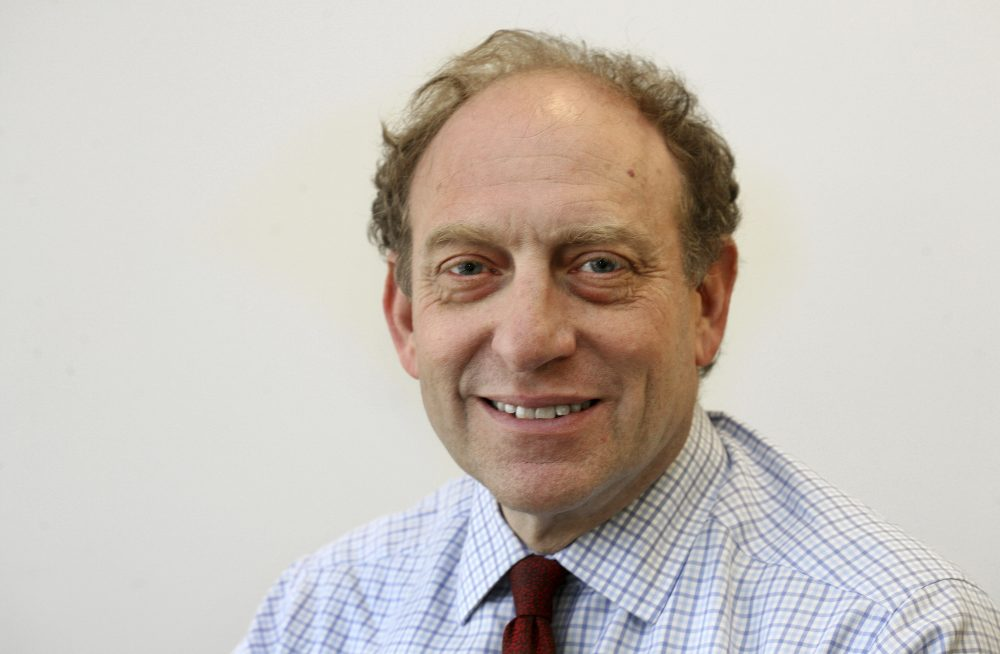 In this March 18, 2015 file photo, former Associated Press Vice President and Senior Managing Editor Mike Oreskes poses for a photo at AP headquarters, in New York. Oreskes, current vice president of news and editorial director at National Public Radio,  has been placed on leave following a published report that he abruptly kissed two women who were seeking jobs while he was Washington bureau chief at The New York Times in the 1990s. (Chuck Zoeller/AP)