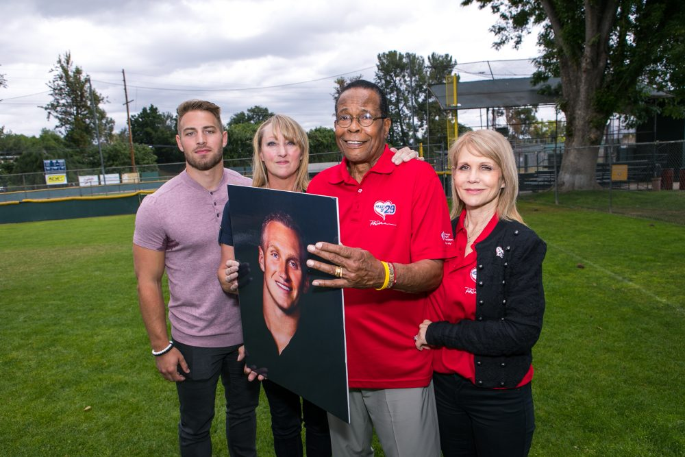 Konrad Reuland's heart went to former MLB star Rod Carew (third from left). (Courtesy American Heart Association)