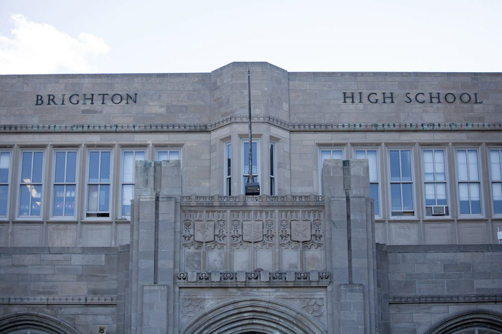 "Brighton High School has had to undertake reforms as an under-performing ""Level 4"" school. (Jesse Costa/WBUR)"