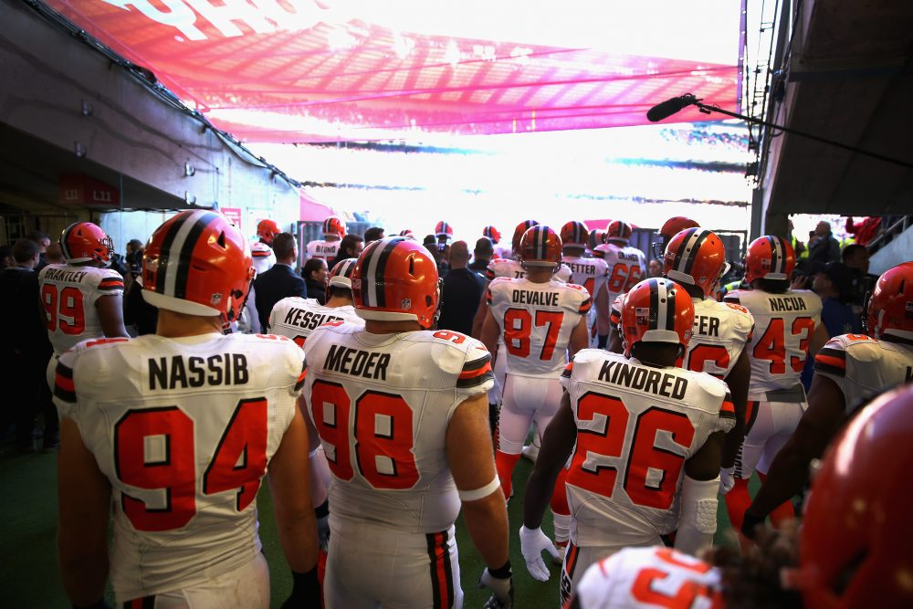 Just about halfway through the NFL regular season, the Cleveland Browns are once again in last place. (Alex Pantling/Getty Images)