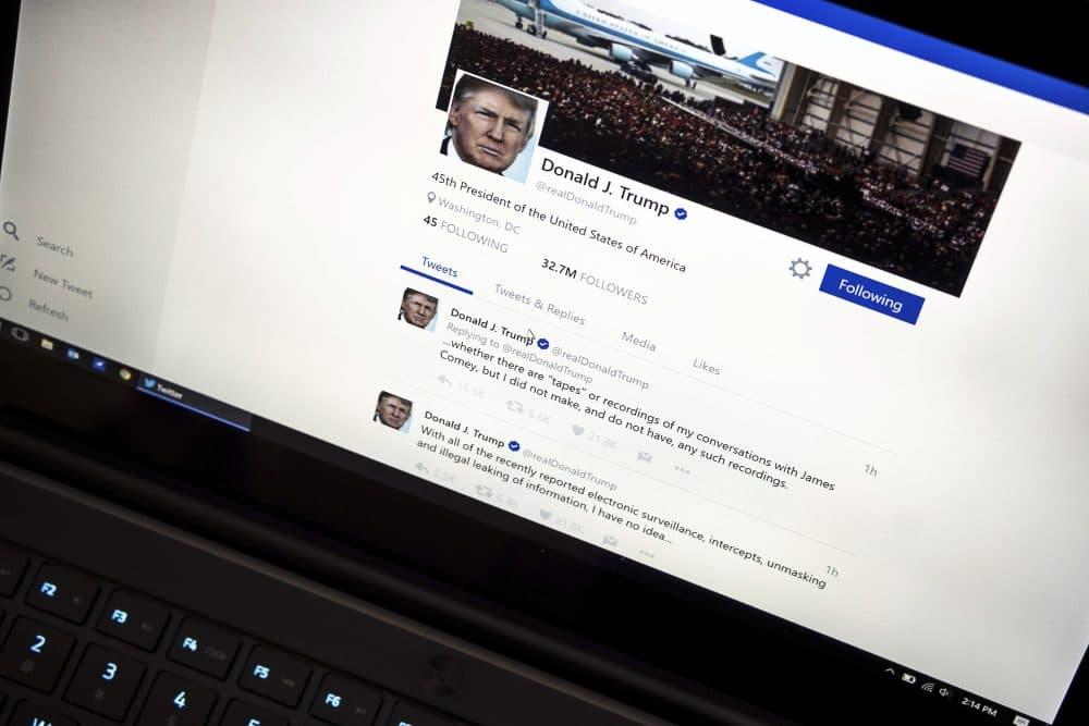 President Trump's Twitter page, photographed in Washington, Thursday, June 22, 2017. (J. David Ake/AP)
