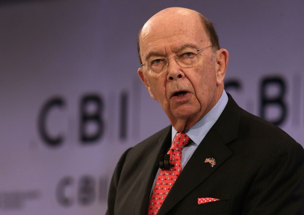 Secretary of Commerce Wilbur Ross addresses delegates at the annual Confederation of British Industry (CBI) conference in London, on Nov. 6, 2017. (Daniel Leal-Olivas/AFP/Getty Images)