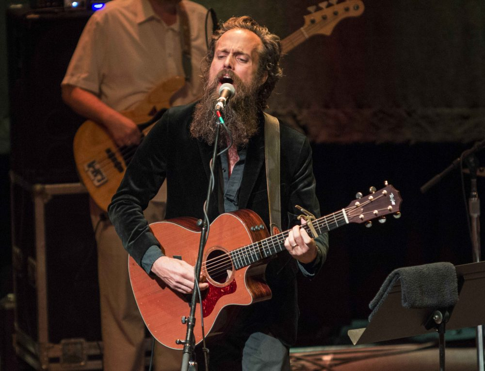 Sam Beam as Iron & Wine performs in Atlanta in July 2015. (Robb D. Cohen/Invision/AP)