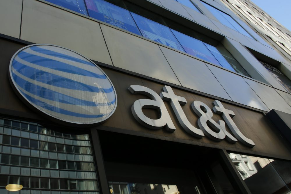 An AT&T store is seen on Fifth Avenue in New York on Oct. 23, 2016. (Kena Betancur/AFP/Getty Images)