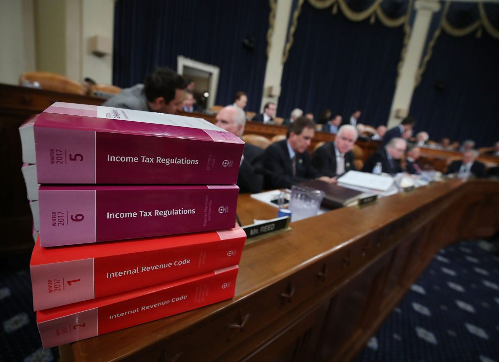 Members participate in House Ways and Means Committee markup of the Republicans tax reform plan titled the Tax Cuts and Jobs Act., on Capitol Hill Nov. 9, 2017 in Washington, D.C. (Mark Wilson/Getty Images)