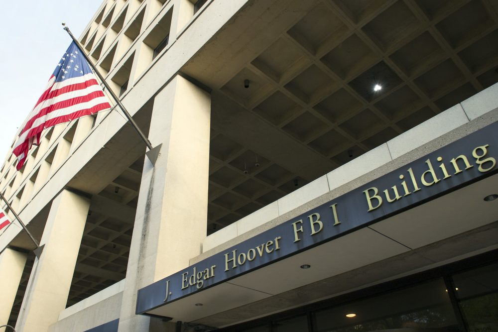 The FBI's J. Edgar Hoover Headquarters, across the street from the Justice Department in Washington in 2016. (Cliff Owen/AP)