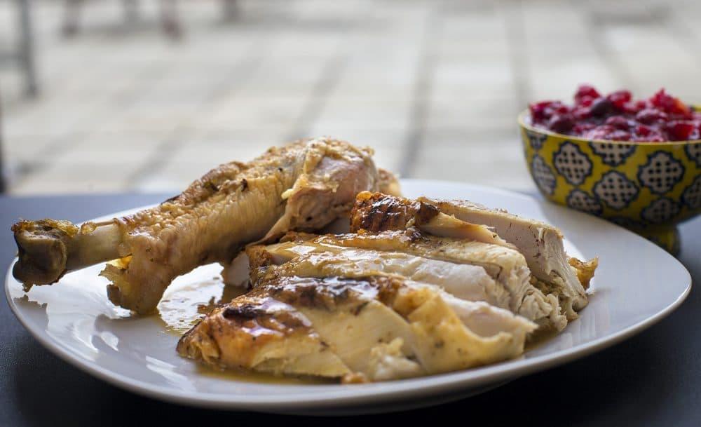 Kathy's sliced roast turkey. (Jesse Costa/WBUR)