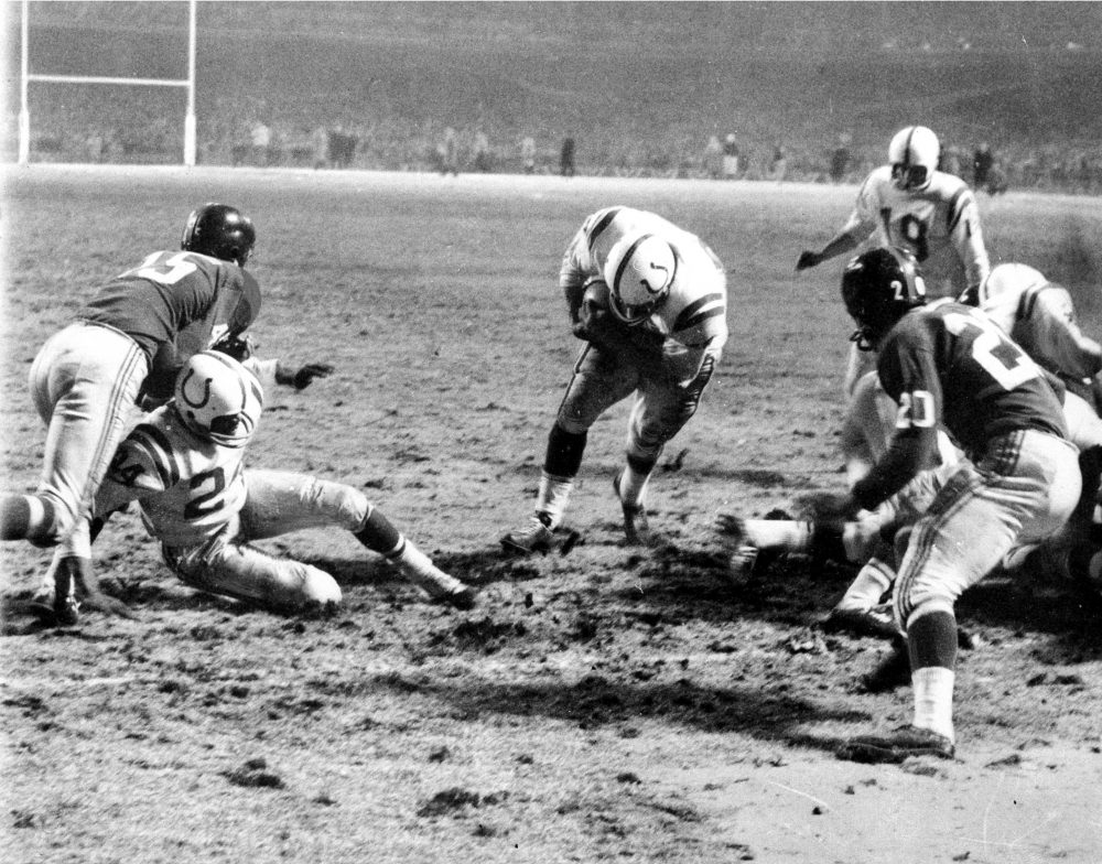 "Howard Peretz ranks ""The Greatest Game Ever Played"" between the Baltimore Colts and the New York Giants at No. 4 among ""Greatest NFL Finishes."" (AP)"