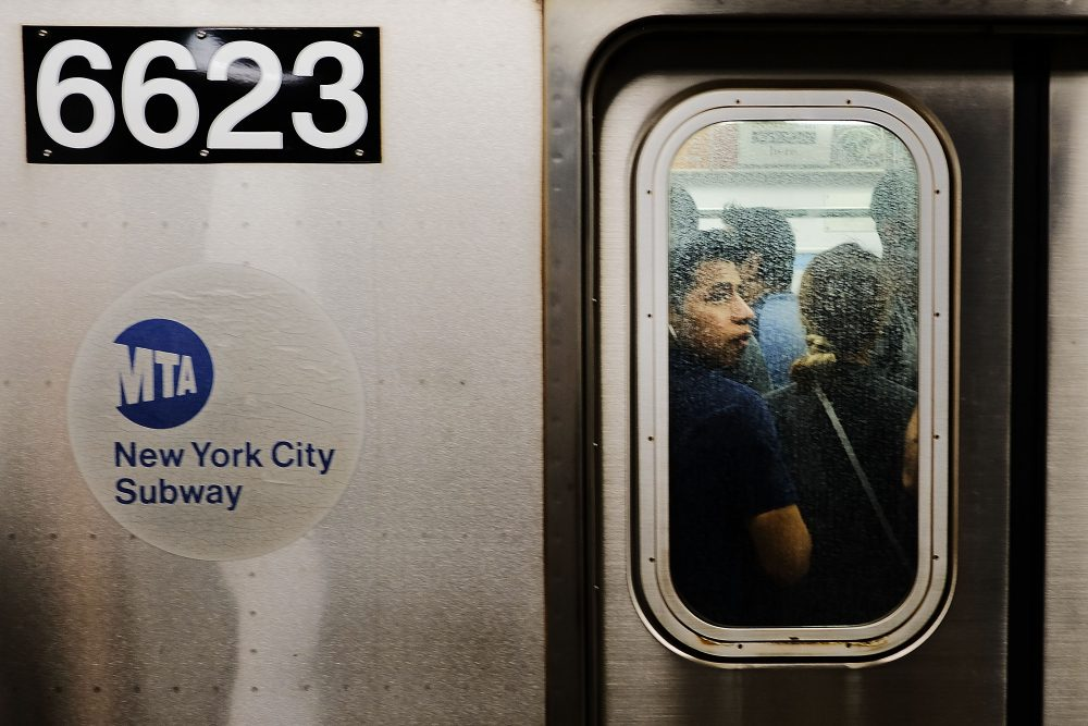 Passengers ride a Metropolitan Transportation Authority (MTA) subway on June 29, 2017 in New York City. (Spencer Platt/Getty Images)