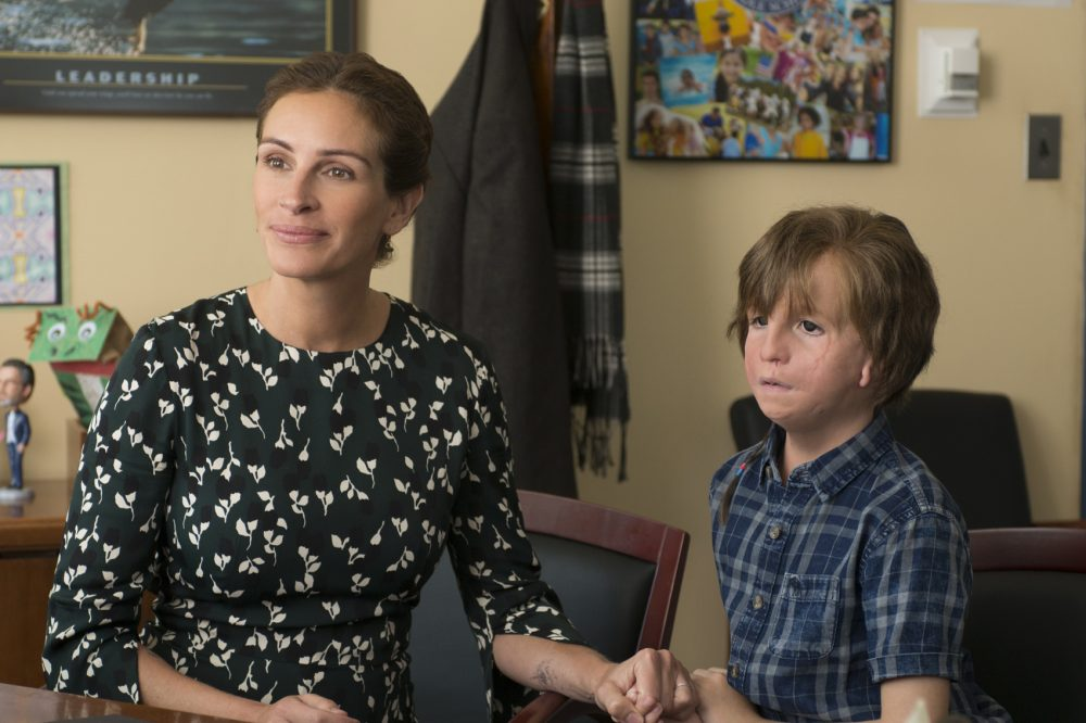 "Julia Roberts as ""Isabel"" and Jacob Tremblay as ""Auggie"" in ""Wonder."" (Courtesy Dale Robinette/Lionsgate Entertainment)"
