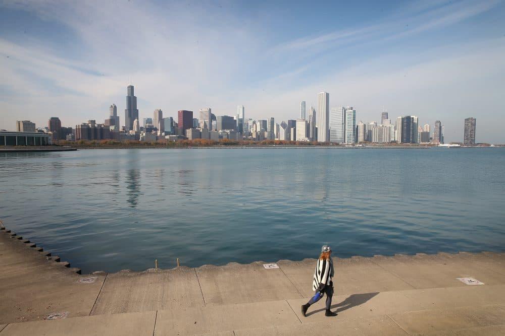 The Willis Tower (left) rises above Chicago's skyline on Nov. 8, 2013. (Scott Olson/Getty Images)
