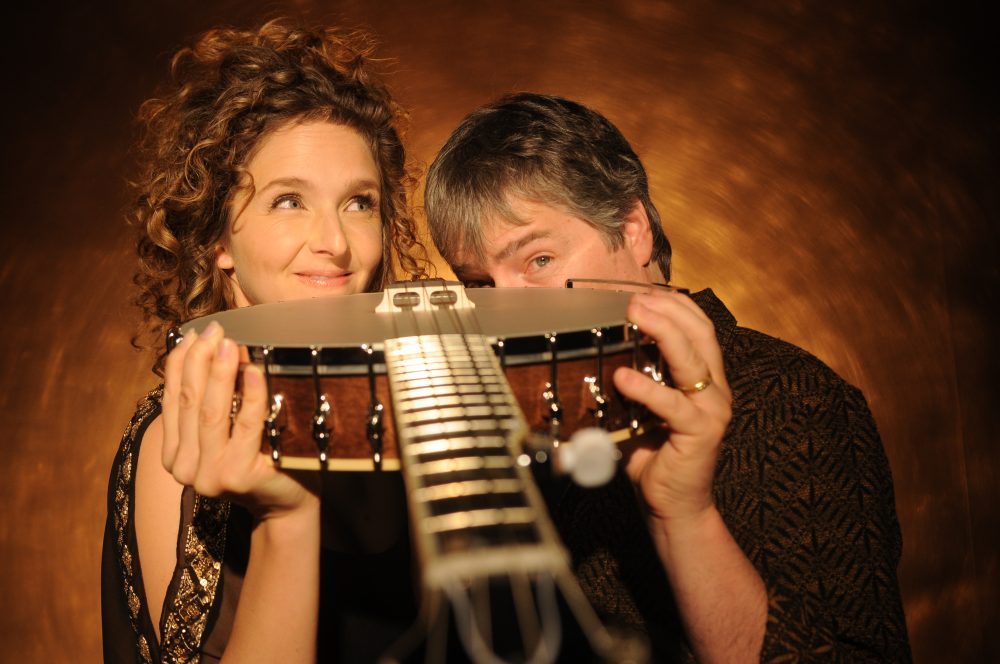 Béla Fleck (right) and Abigail Washburn. (Courtesy Jim McGuire)