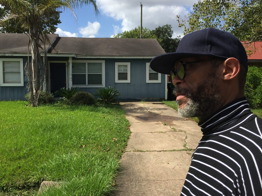 Donnal Walker, 52, returned to his home to find his HIV medications floating in the floodwaters from Hurricane Harvey. He went 11 days without his medication. (Sarah Varney/Kaiser Health News)