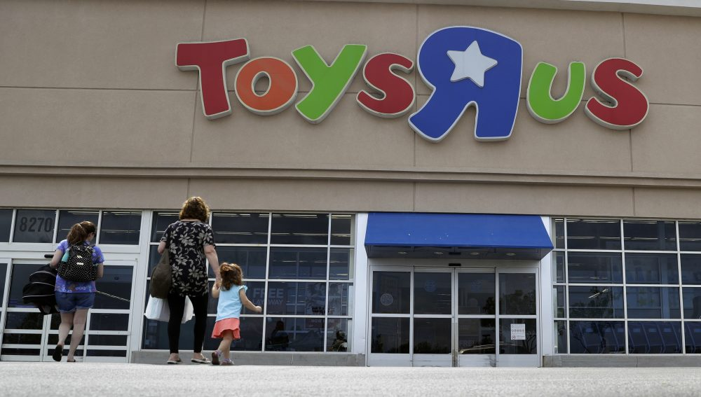 In this Tuesday, Sept. 19, 2017, photo, shoppers walk into a Toys R Us store, in San Antonio. (Eric Gay/AP)