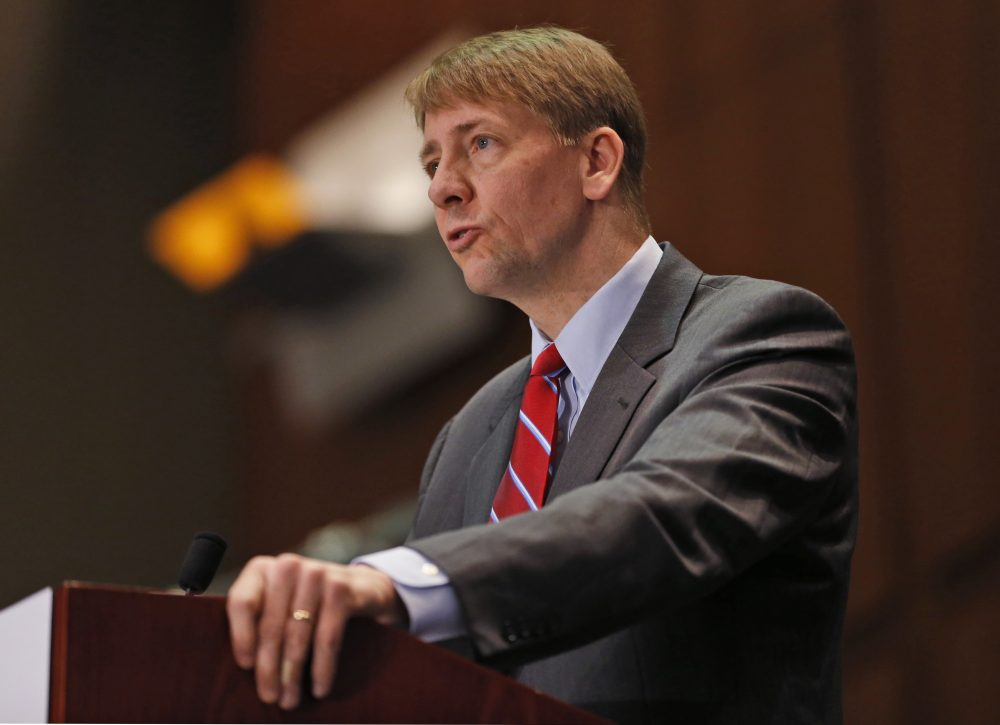 Consumer Financial Protection Bureau Director Richard Cordray has stepped down, but his appointed successor is facing opposition from President Trump, who has an appointee of his own.(Steve Helber/AP)