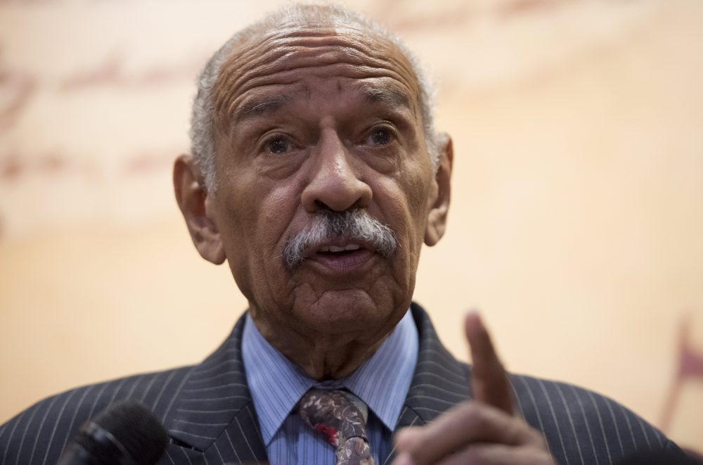 Rep. John Conyers, Democrat of Michigan, speaks during a press conference on Capitol Hill in Washington, D.C, June 20, 2017. (Saul Loeb/AFP/Getty Images)