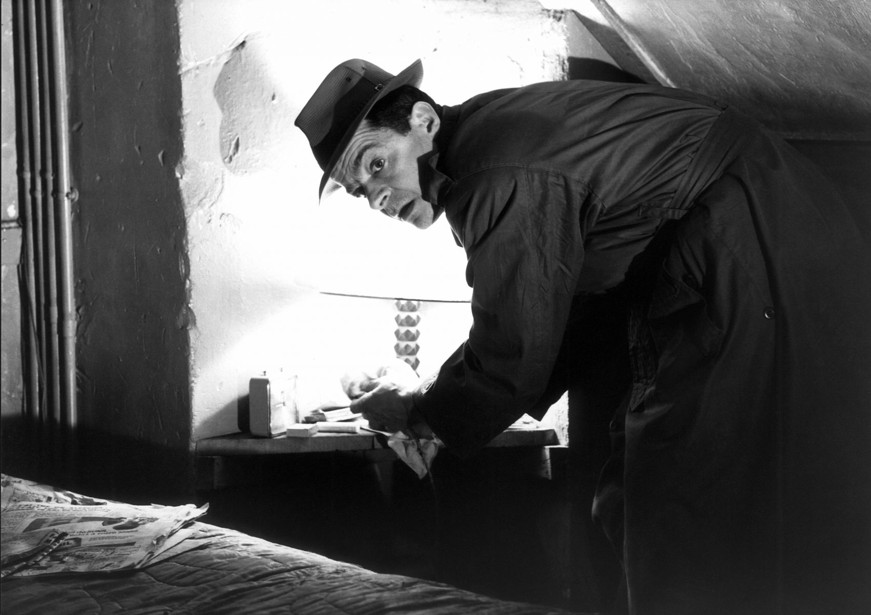 """Serge Reggiani in Jean-Pierre Melville's """"Le Doulos,"""" released in 1962. (Courtesy Rialto Pictures)"""