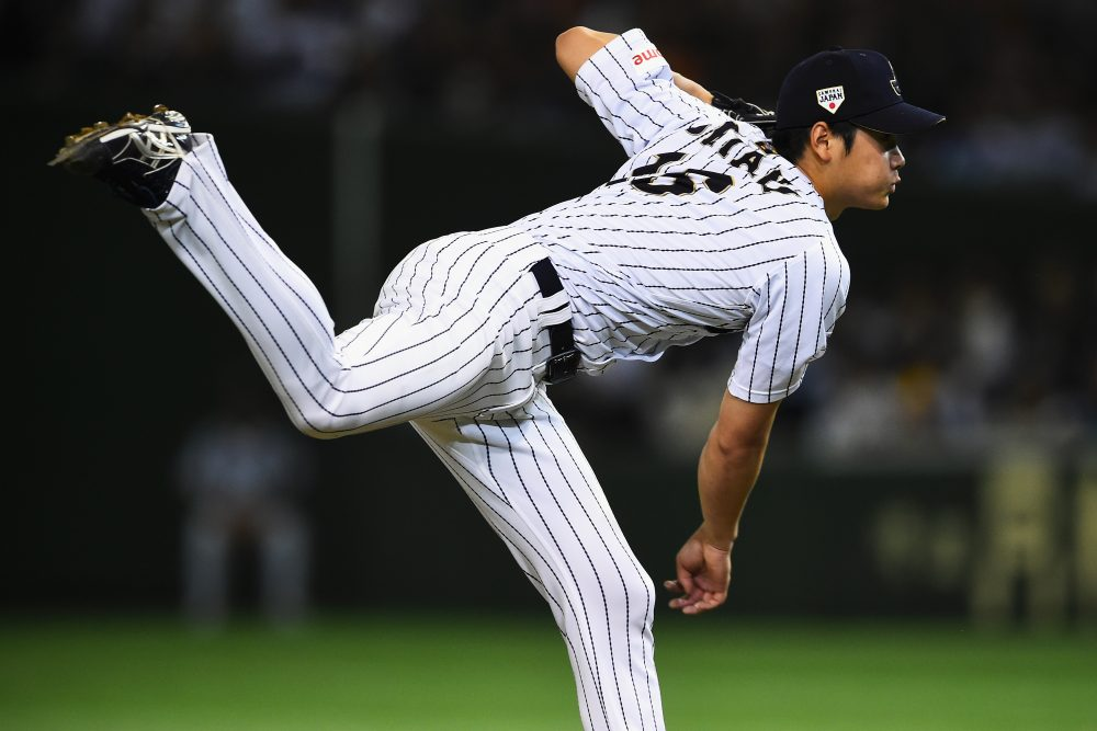 Japanese pitcher/outfielder Shohei Ohtani plans to jump to the MLB, and his agent is asking teams to explain how they plan to accommodate him. (Masterpress/Getty Images)