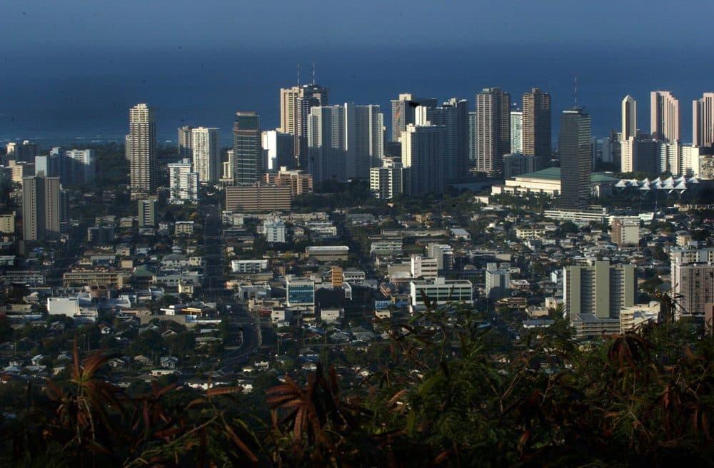 The skyline of Honolulu, Hawaii, is seen from Tantalus Mountain in 2005. (Lucy Pemoni/AP)
