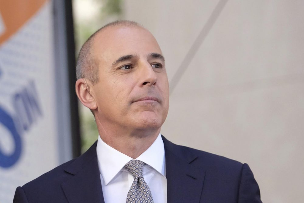 """Matt Lauer on NBC's """"Today"""" show at Rockefeller Plaza on May 19, 2017, in New York. (Charles Sykes/Invision/AP)"""