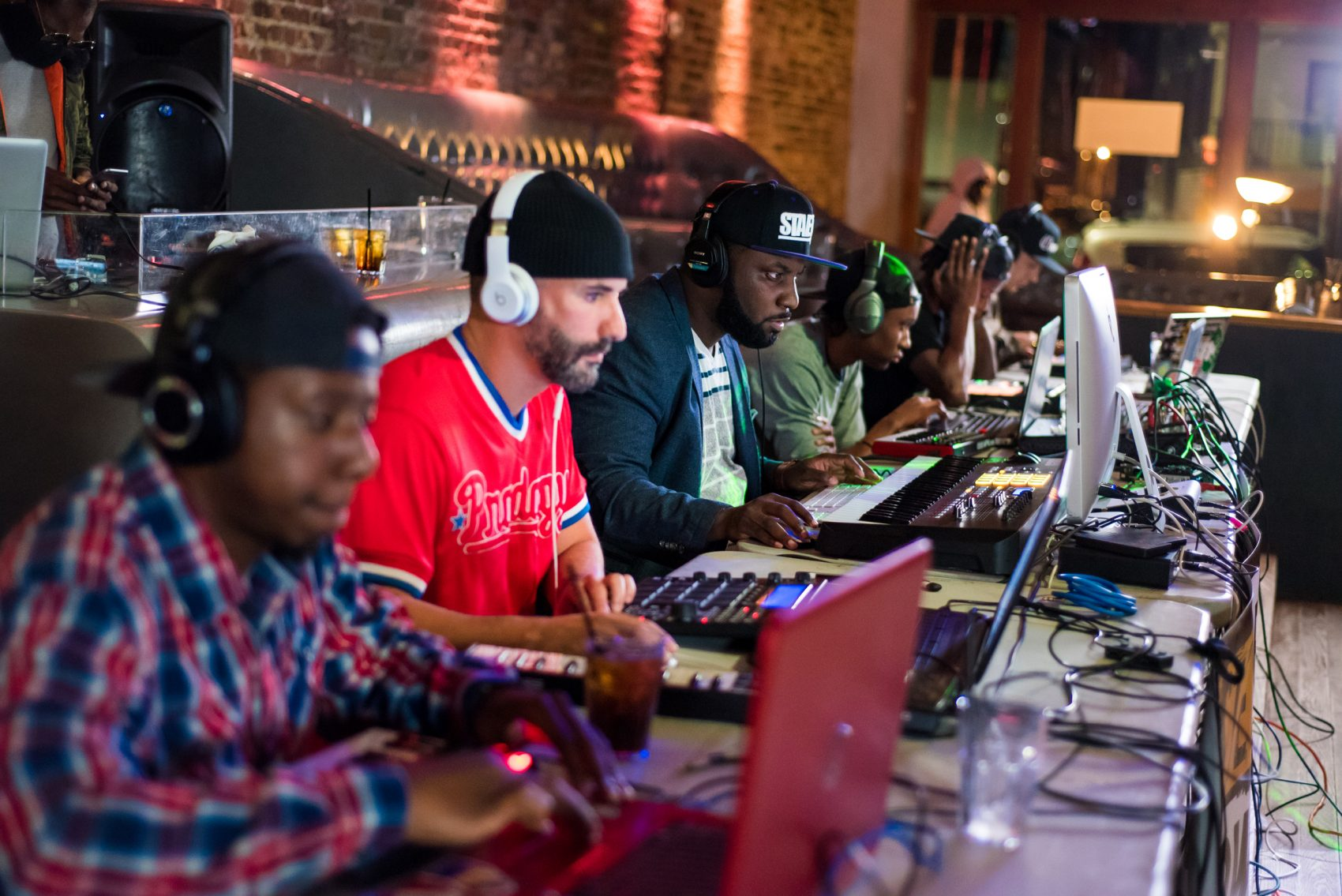 Producers sit at Wonder Bar during October's Stew Beat Showcast. (Courtesy Bryan Trench)