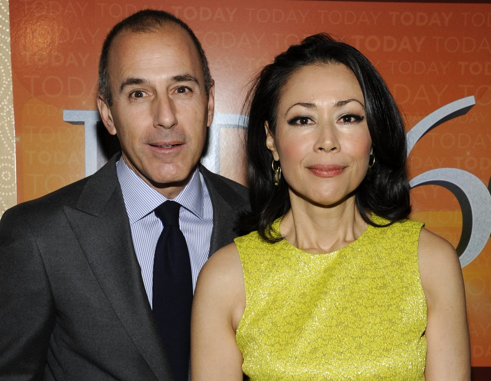 """Today"" show co-hosts Matt Lauer and Ann Curry at the ""Today"" show 60th anniversary celebration in 2012 in New York. (Evan Agostini/AP)"