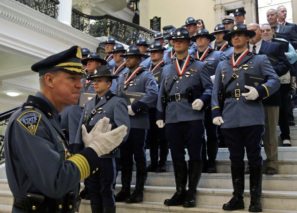 Mass  Trooper Sues Police Leaders After He Was Told To Alter