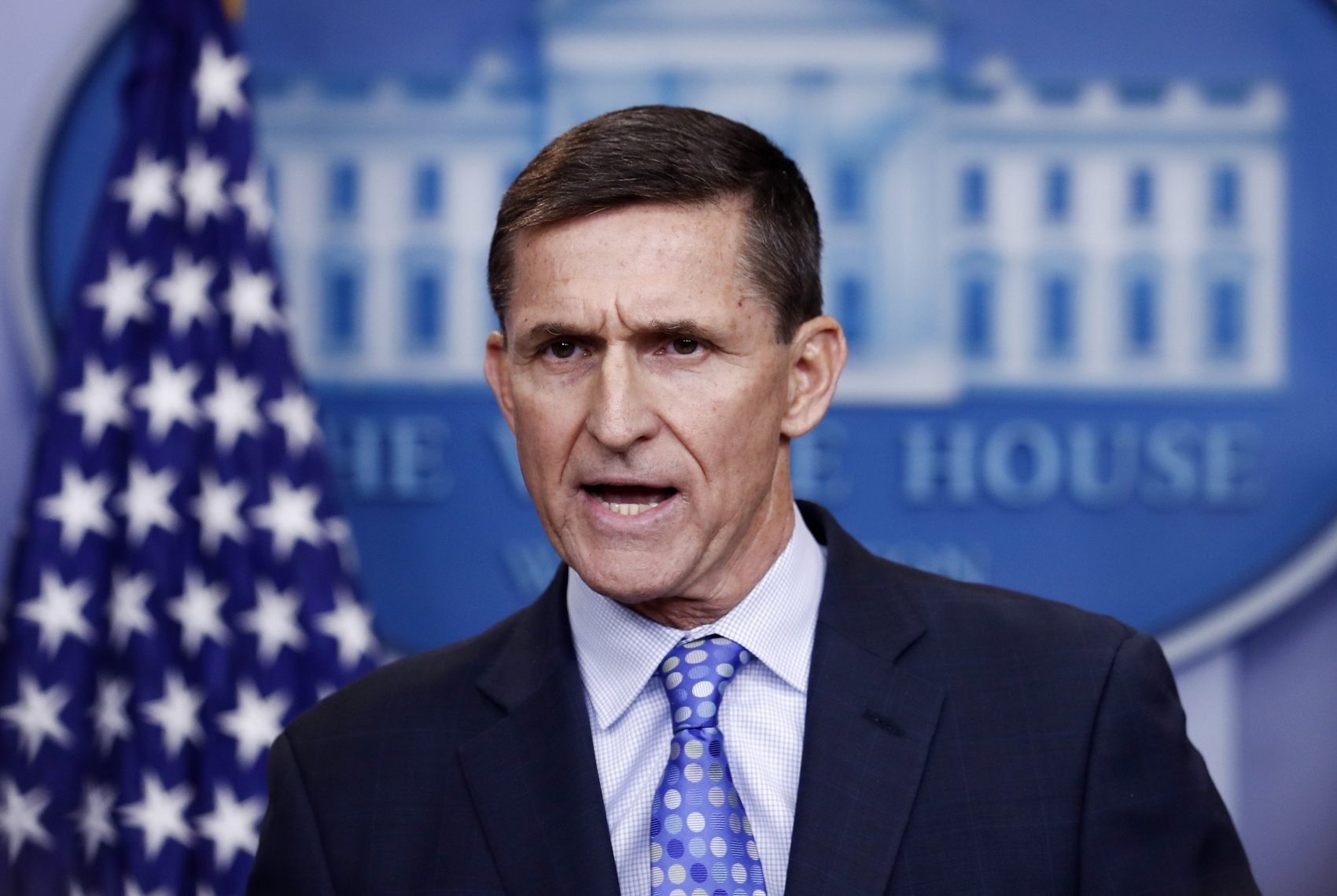 In this Feb. 1, 2017 file photo, National Security Adviser Michael Flynn speaks during the daily news briefing at the White House. (Carolyn Kaster/AP)