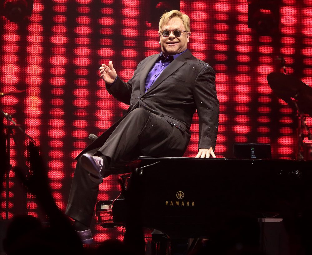 """Elton John performs in concert during his """"Wonderful Crazy Night Tour"""" at The Giant Center on Friday, Sept. 23, 2016, in Hershey, Pa. (Photo by Owen Sweeney/Invision/AP)"""