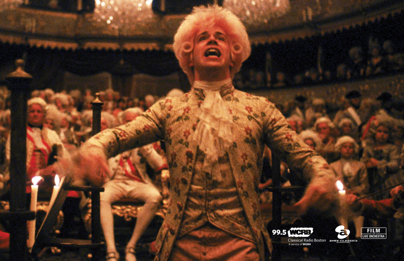 "Tom Hulce as Wolfgang Amadeus Mozart in 1984's ""Amadeus."" (Courtesy Handel & Haydn)"