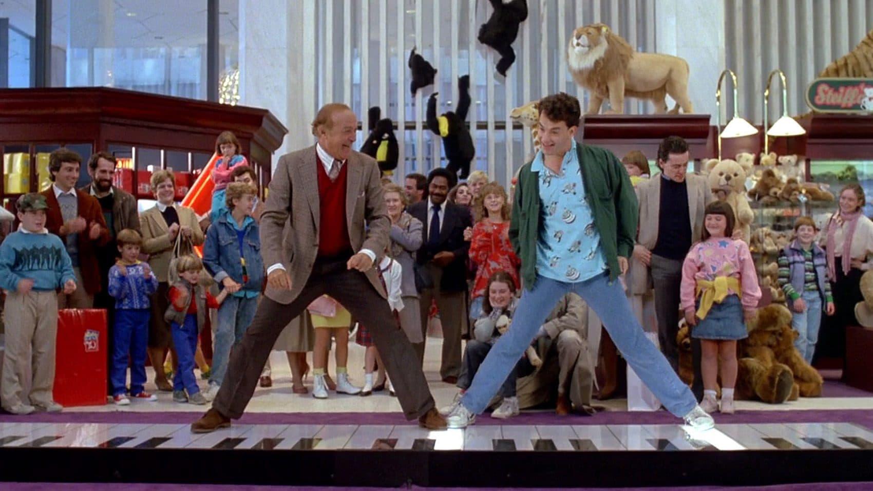 "Robert Loggia and Tom Hanks in ""Big."" (Courtesy The Brattle Theatre)"